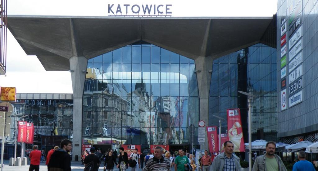 The central train station at Katowice, Poland. Credit: Wikipedia