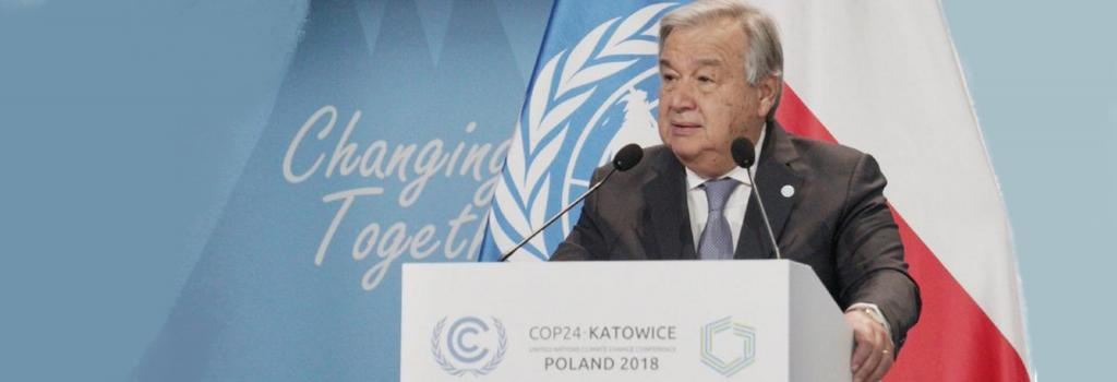 "Guterres said that ""we are still not doing enough, nor moving fast enough, to prevent irreversible and catastrophic climate disruption"". Credit: Twitter"