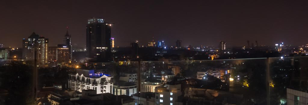 Night skyline of Bengaluru. The city is pegged to be the fastest growing in 2035.