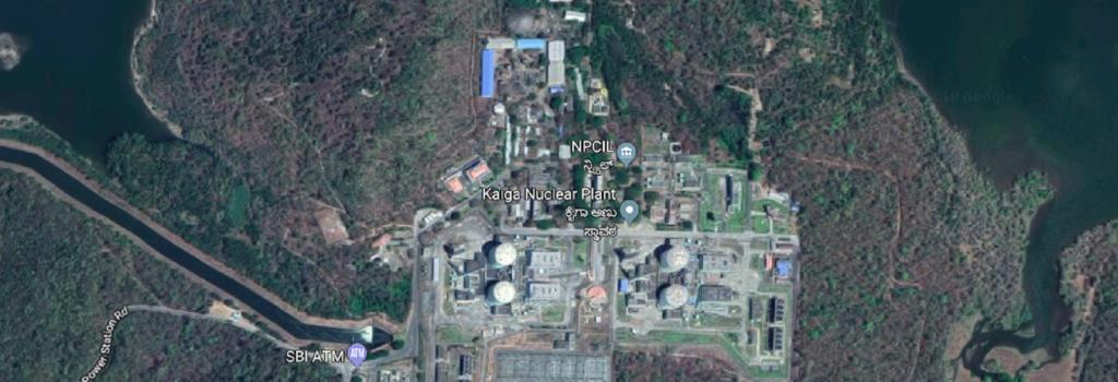 An aerial view of Kaiga Nuclear Power Plant. Credit: Google Maps