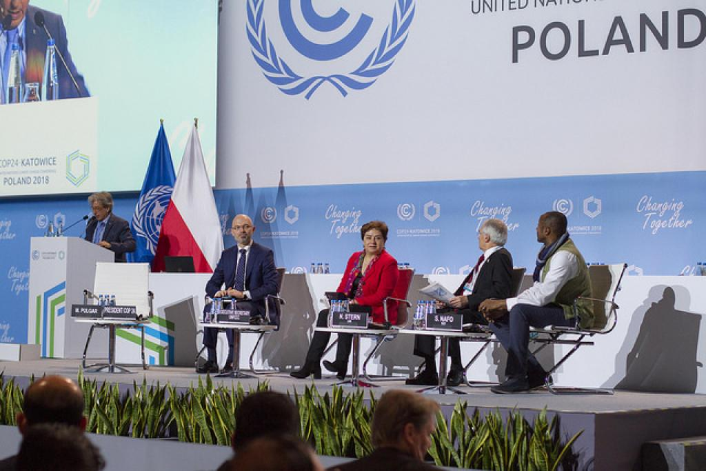 The third high-level ministerial dialogue on climate finance being held at Katowice, Poland. Credit: Unclimatechange/Flickr