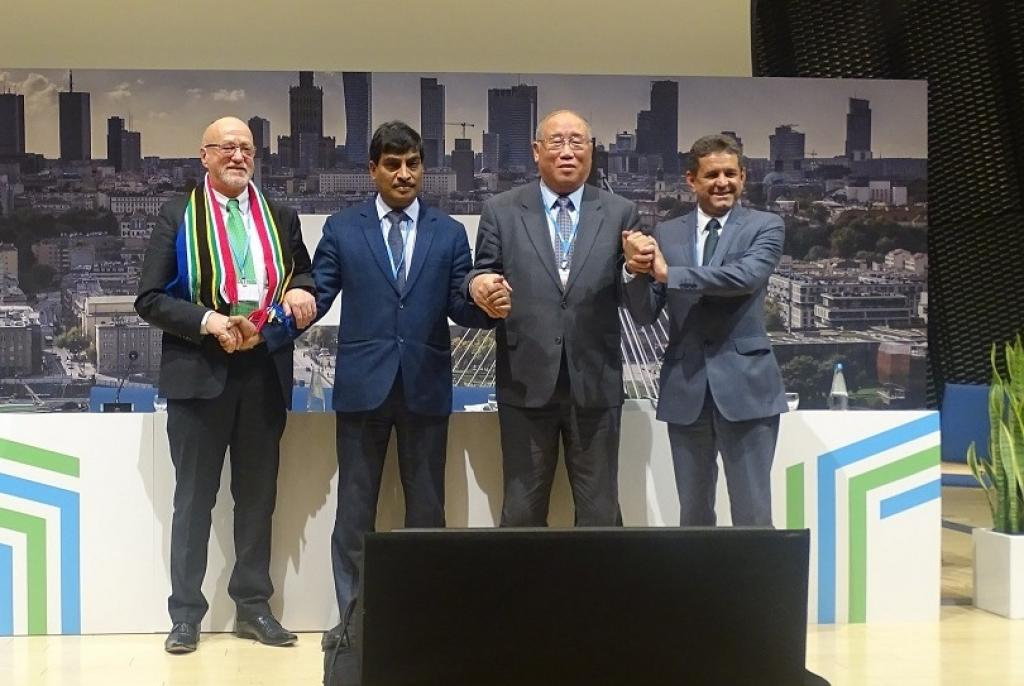 BASIC group held a press conference to share their positions and concerns in the ongoing climate change negotiations at COP24. Credit: India@COP24/Twitter