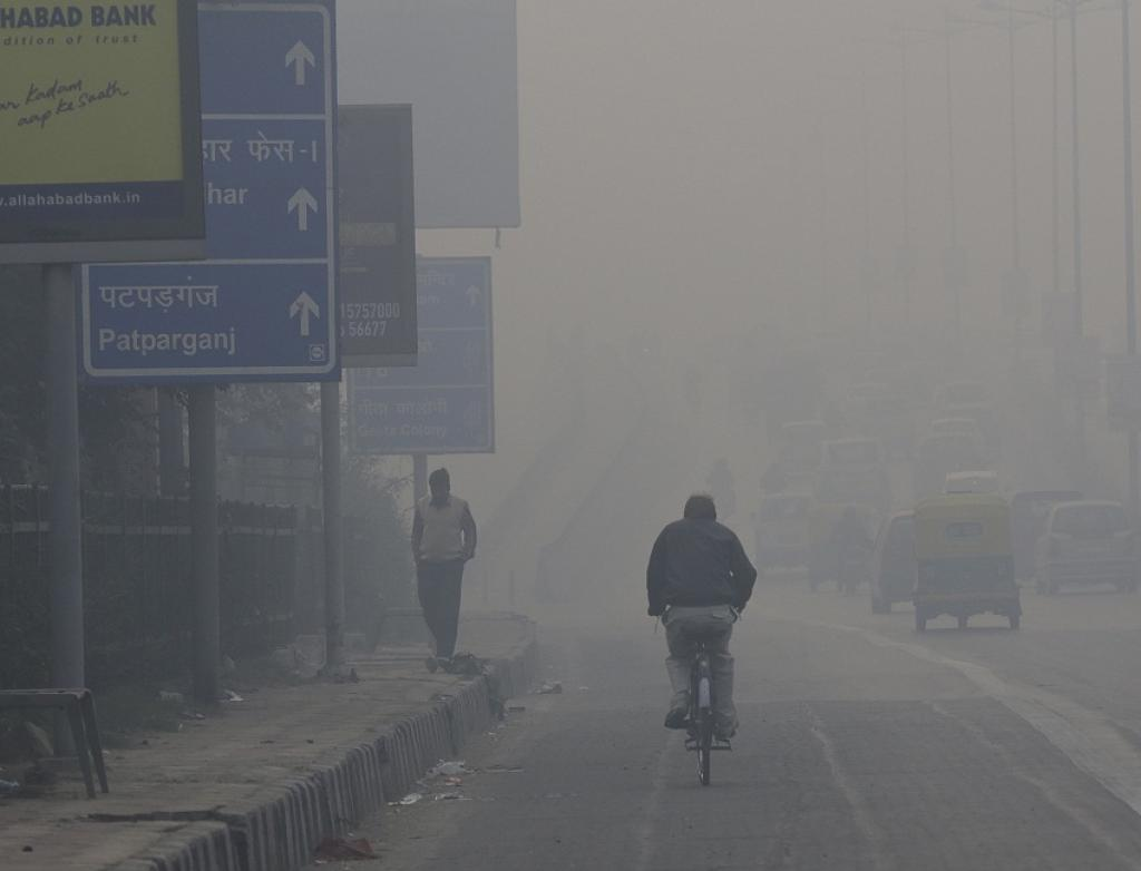 Heavy smog in Delhi. Credit: Vikas Choudhary