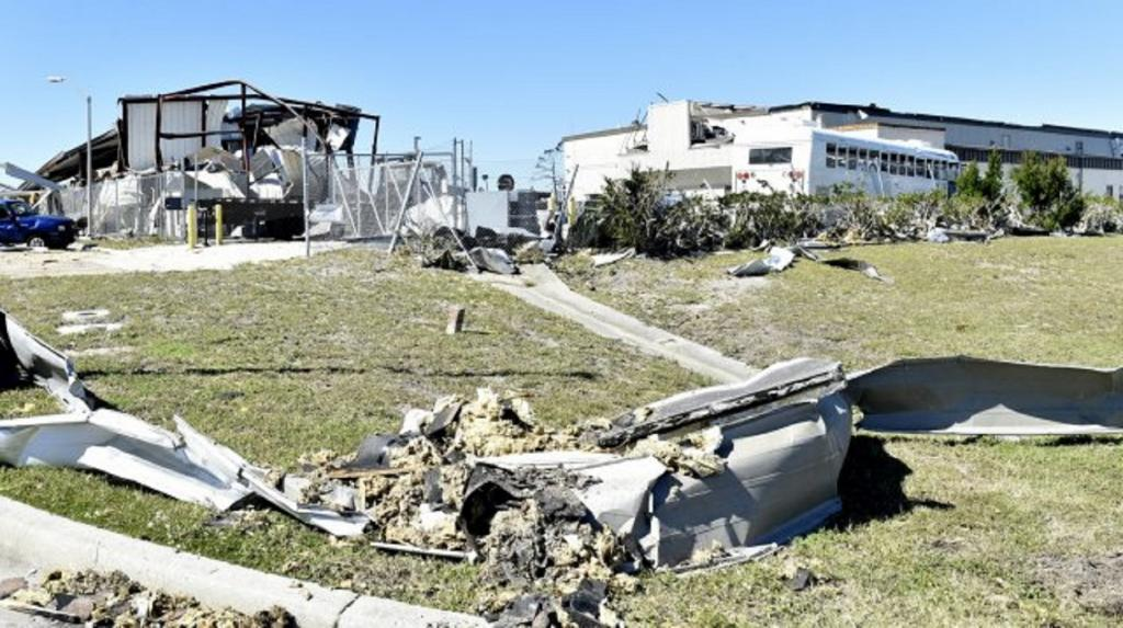 Hurricane Michael caused overall losses of $16bn, and insured losses of $10bn. It ripped through Tyndall Air Force Base, Florida, and the surrounding area leaving severe damage through its path. Photo Credit: US Air Force