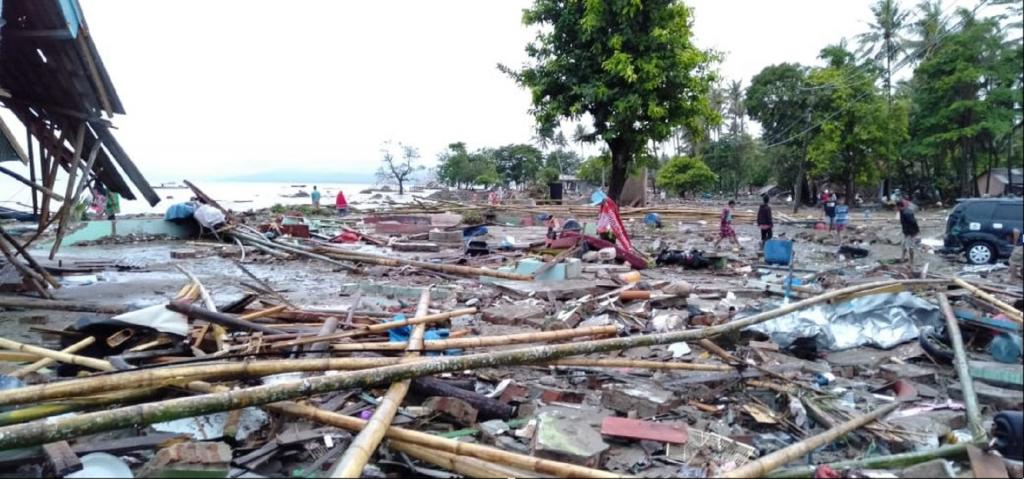 The report classifies the seven-metre tsunami in Indonesia's Palu city which killed around 2,100 people as the deadliest disaster of 2018, followed by the tsunami in Sumatra and Java islands of Indonesia in December last year. Photo credit: Wikimedia Commons
