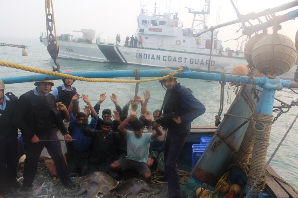 Eight fishermen have been arrested on charges of illegally fishing in Gahirmatha. Credit: Ashis Senapati