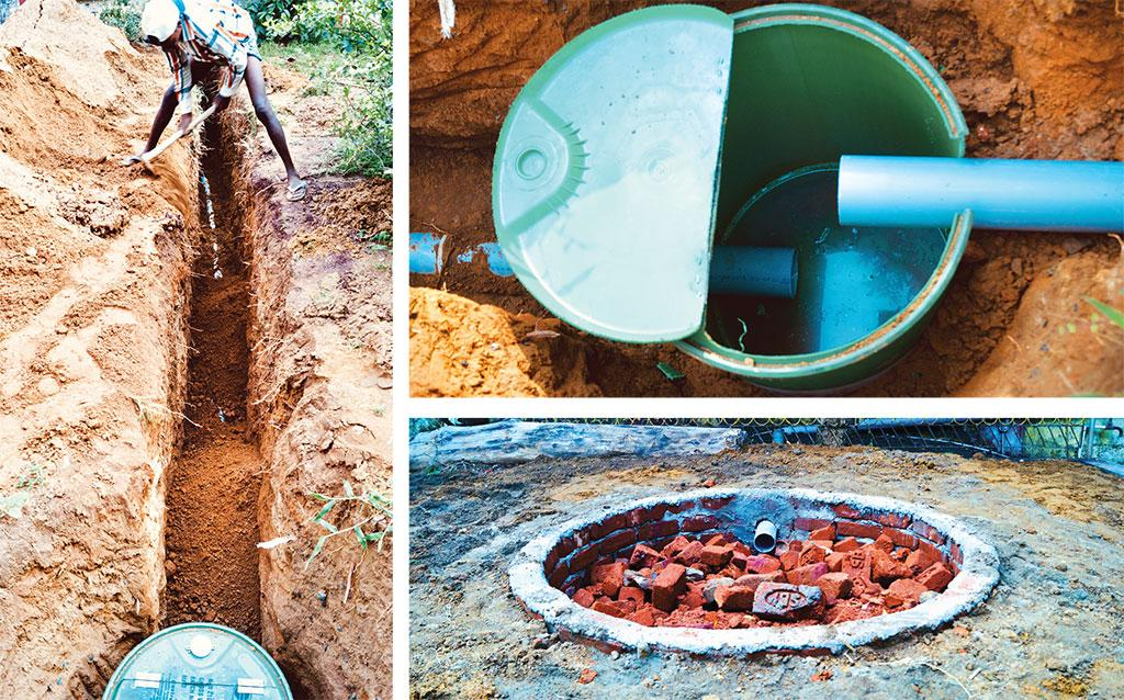 Among the techniques employed to harvest rainwater and recharge groundwater, water channels were dug and pumps were installed