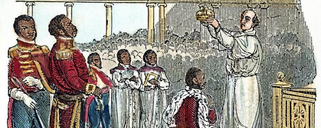 An 1811 wood engraving depicts the coronation of King Henry. Image: Fine Art America