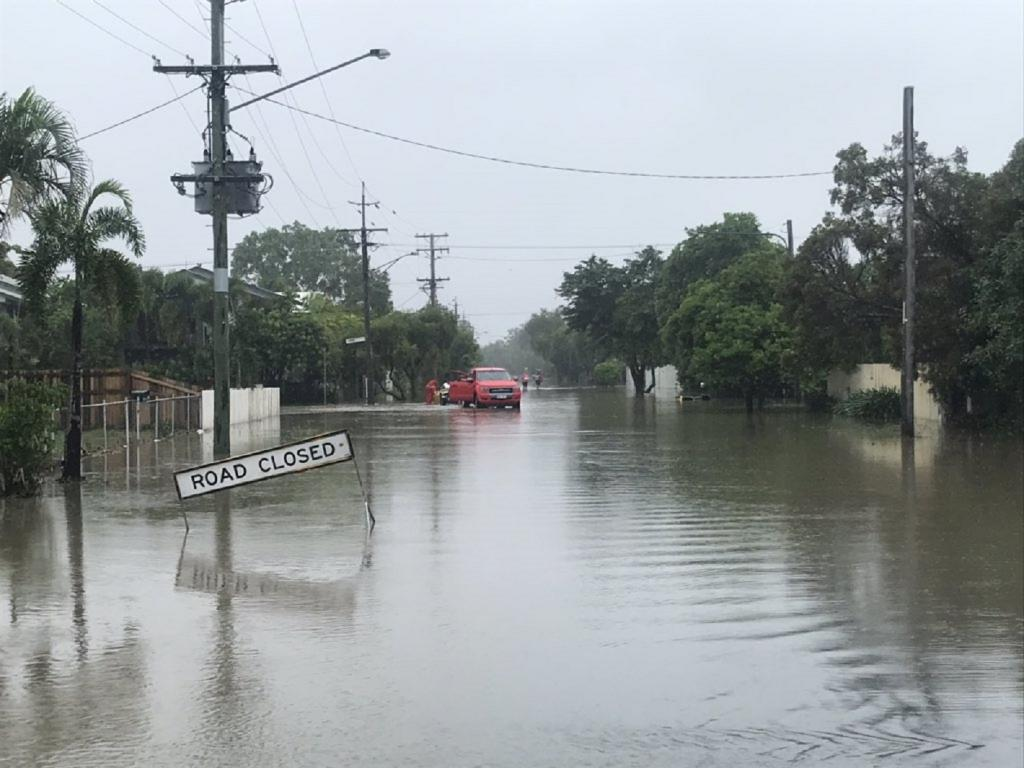 Coastal city Townsville saw the most destruction as floods swept through homes and streets. Photo: @JoshBavas/Twitter