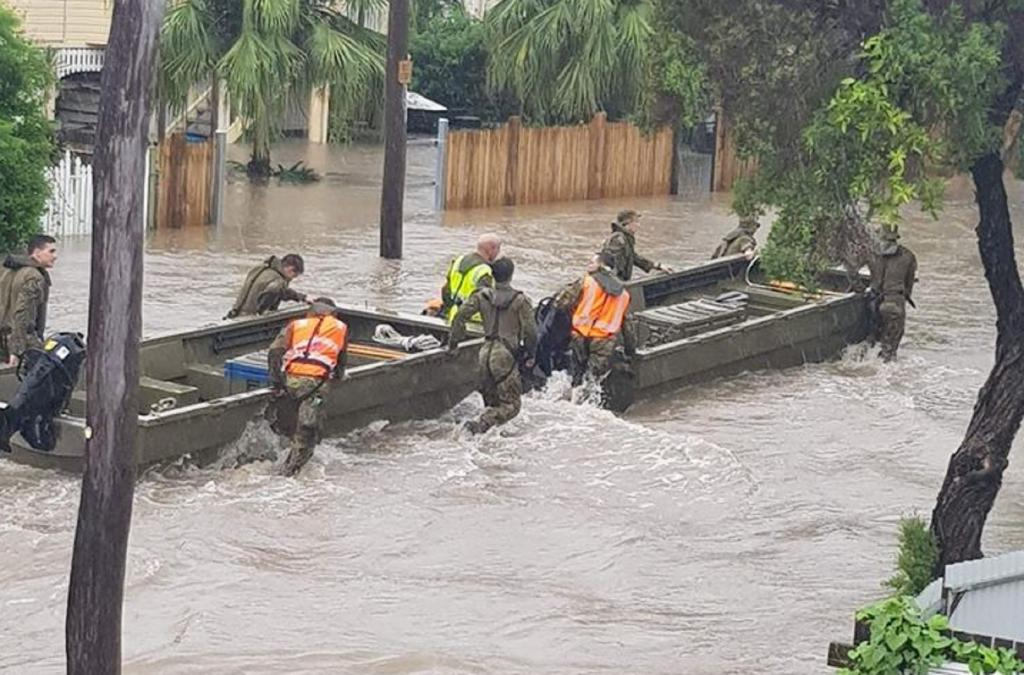The Army has been deployed to rescue residents. Photo: Townsville Storms/Facebook