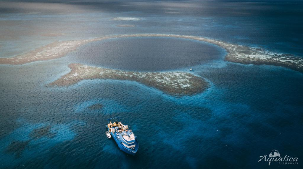 The Great Blue Hole is part of the Belize Barrier Reef Reserve System, a UNESCO world heritage site