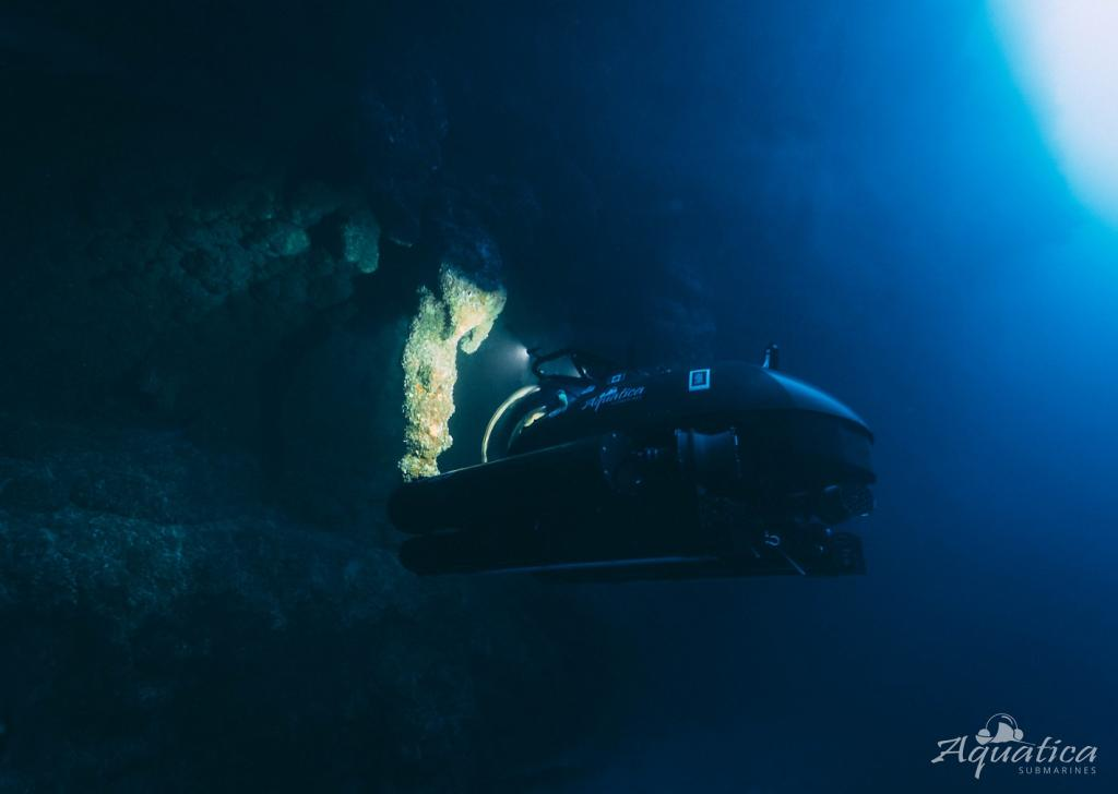 The expedition team, including ocean conservationist Fabien Cousteau, entrepreneur Sir Richard Branson, and Aquatica's chief pilot Erika Bergman used Aquatica Submarines to deep dive into the popular marine tourism site
