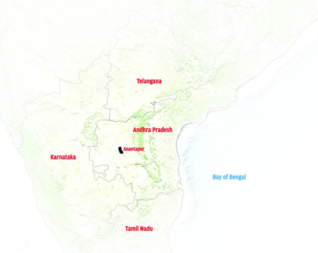 A map showing Anantpur.