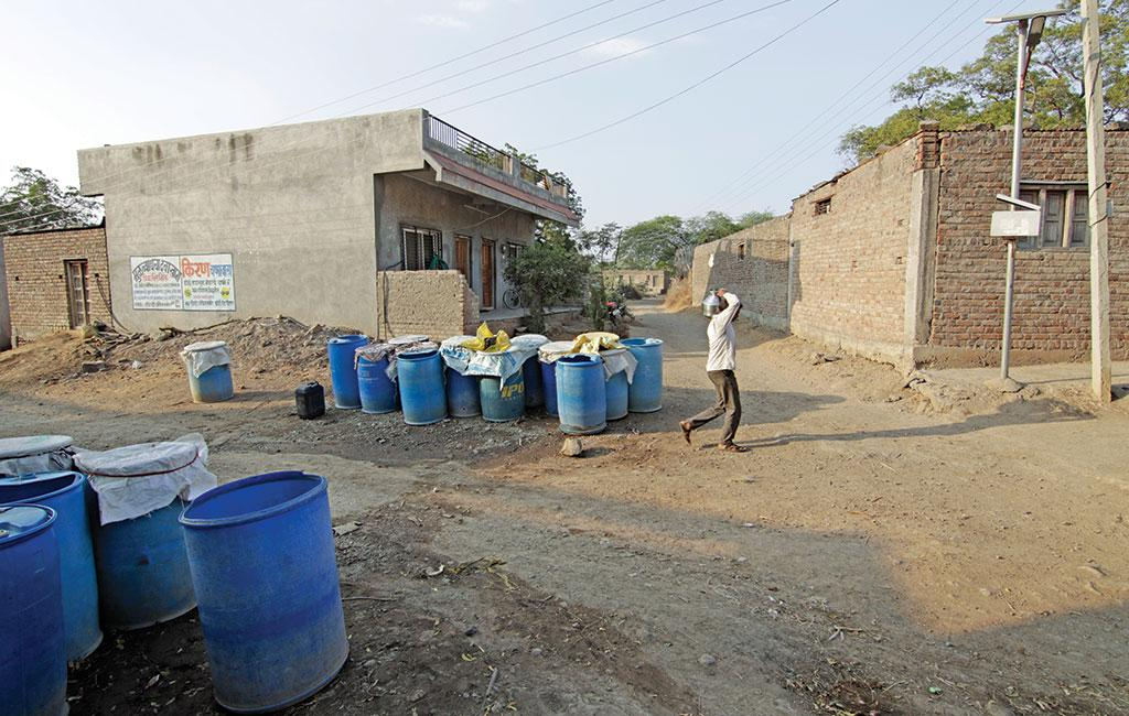 Faced with severe drought, the residents of Pusegaon village in Aurangabad now depend on tanker water. The village is on the periphery of Jayakwadi dam, which is just 11 per cent full compared to the usual 