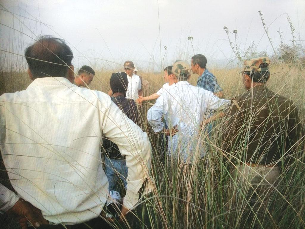 On March 22, forest officials investigate the place in Haripur Kalan village from where parts of the protected animals were seized