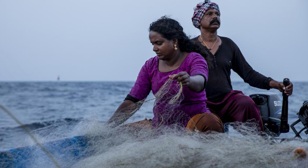 "Recalling the first time she set sail with her husband, Rekha says, ""I was really scared, and very uncomfortable. I vomited so much that blood came out of my mouth. I couldn't eat anything properly. Yet, the next day, I was motivated to go again."" Photo: Midhun V"