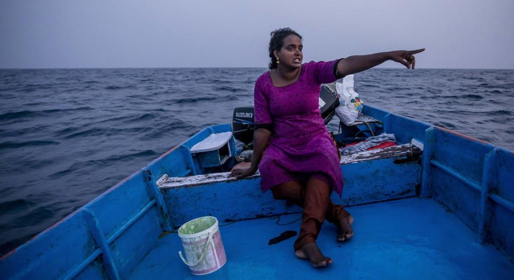 India's first and only licensed fisher-woman, Rekha Karthikeyan (45) from Chavakkad, Kerala, has achieved this feet after challenging many social norms and beliefs. Photo: Midhun V