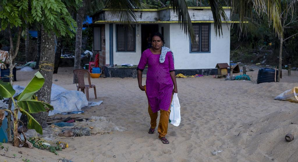 Rekha got married at 18 against the wishes of her family. She and her husband were forced to move to the coastal area, where they eventually settled. They have four daughters. Photo: Midhun V