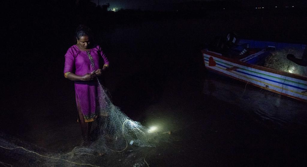 Rekha is not from a fish-working family, and says that she doesn't even know how to swim. Photo: Midhun V