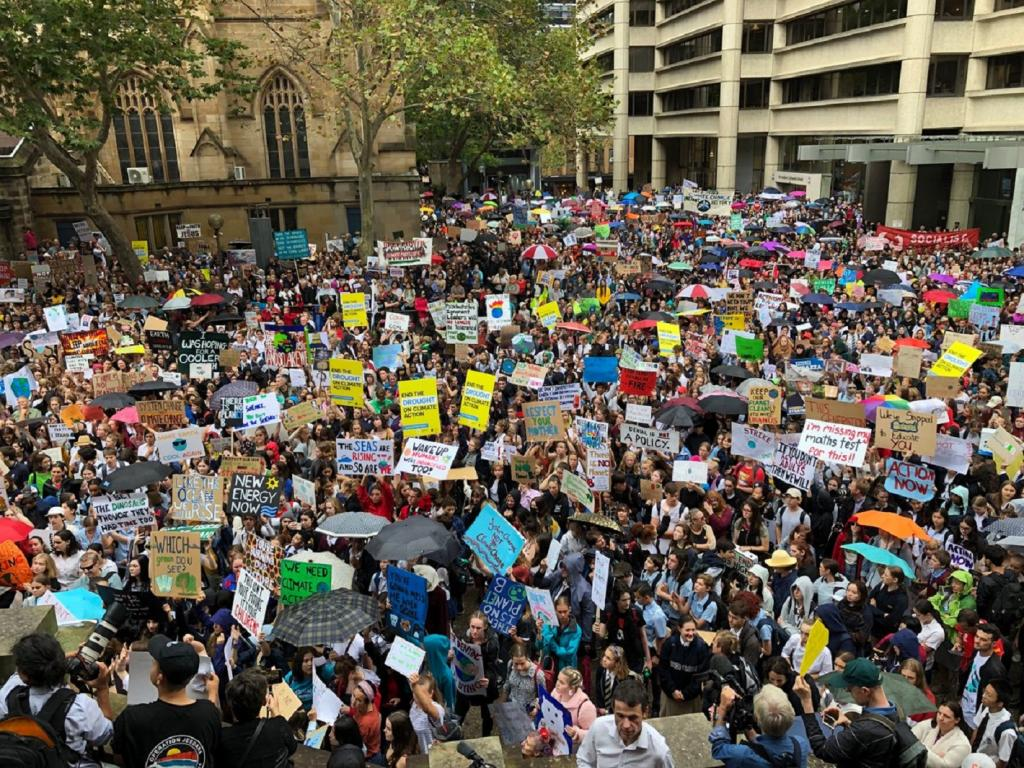 School strike in Melbourne, Australia. Photo: @Greenpeace/Twitter