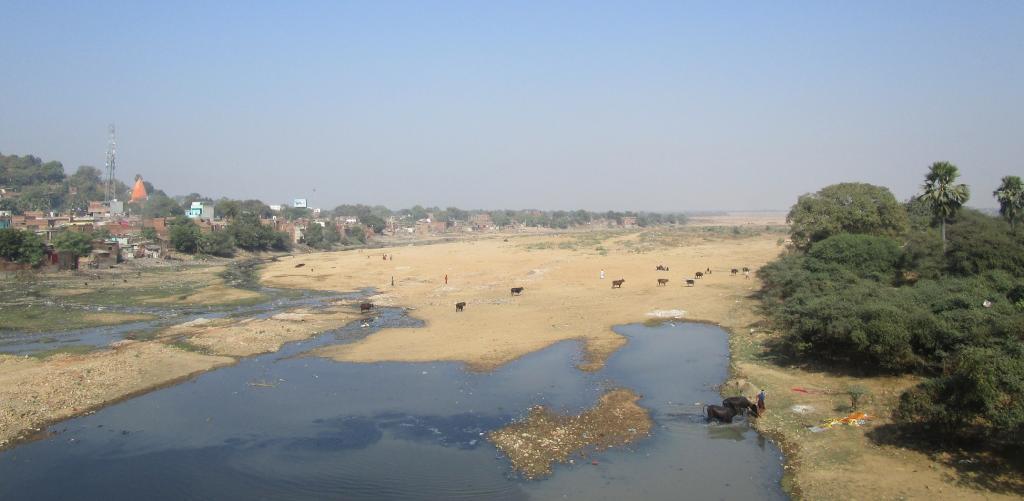The Falgu river in Gaya, Bihar. Photo: Wikimedia Commons