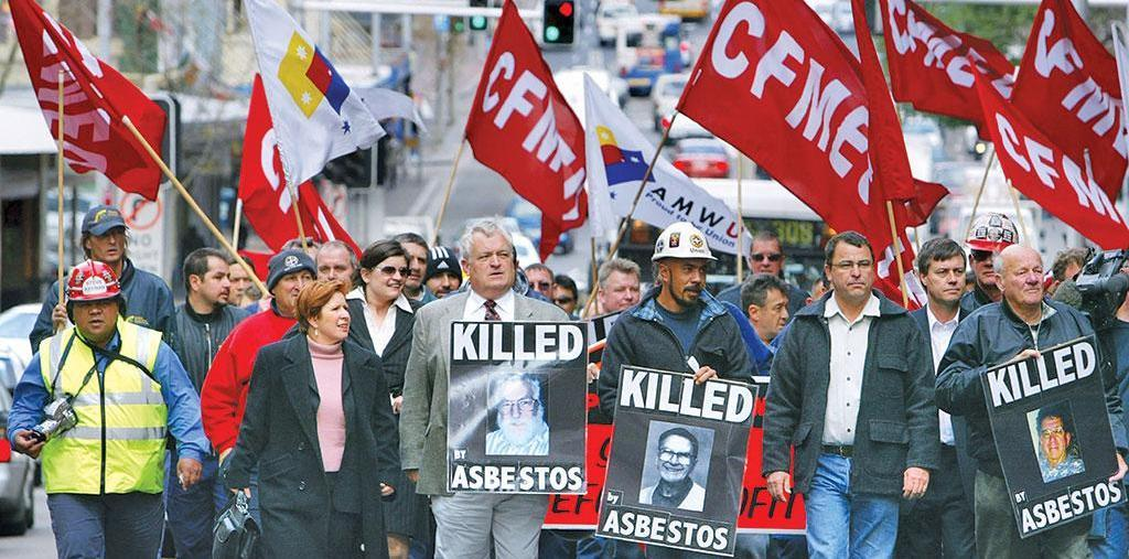 March against asbestos