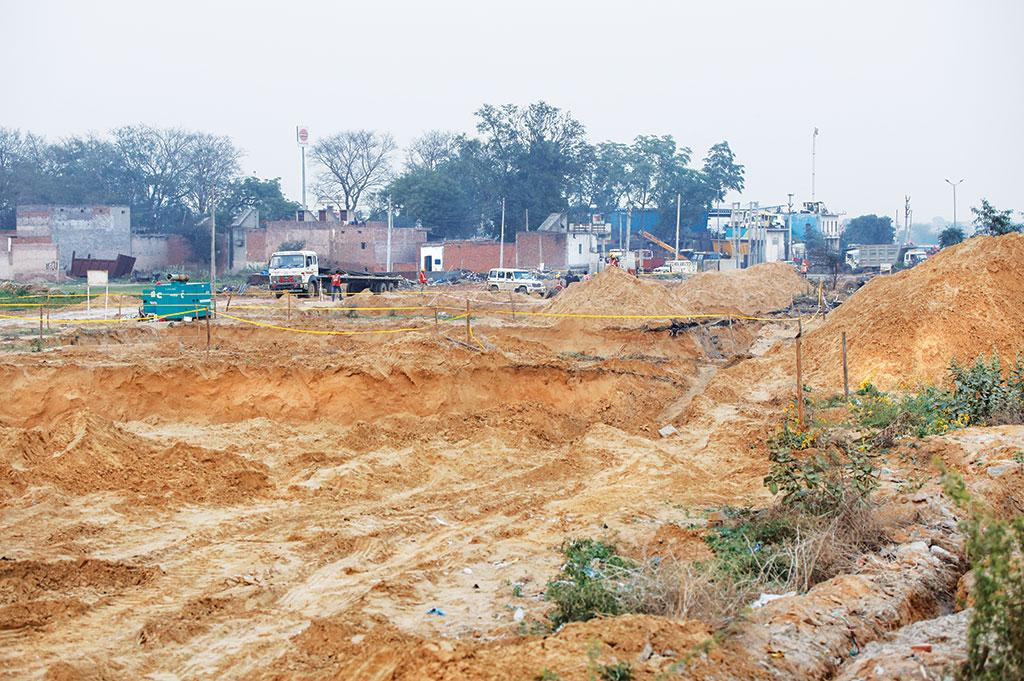 Construction activities on the foothills of the Aravallis in Haryana's Sohna town have caused desertification of the range