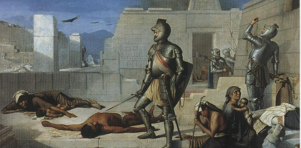 The Cholula Massacre during the Conquest of Mexico. Photo: Wikipedia