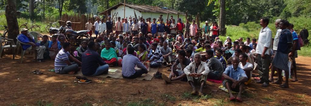 Village residents in the Saranda forest. Photo: Shruti Agarwal