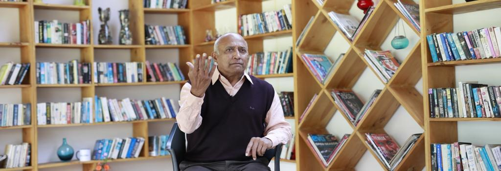 Wing Commander (retired) Rakesh Sharma in conversation with Down To Earth. Photo: Srikant Chaudhary