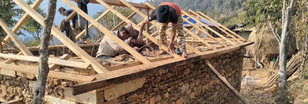 A house being rebuilt in Gorkha, Nepal. Photo: SEEDS
