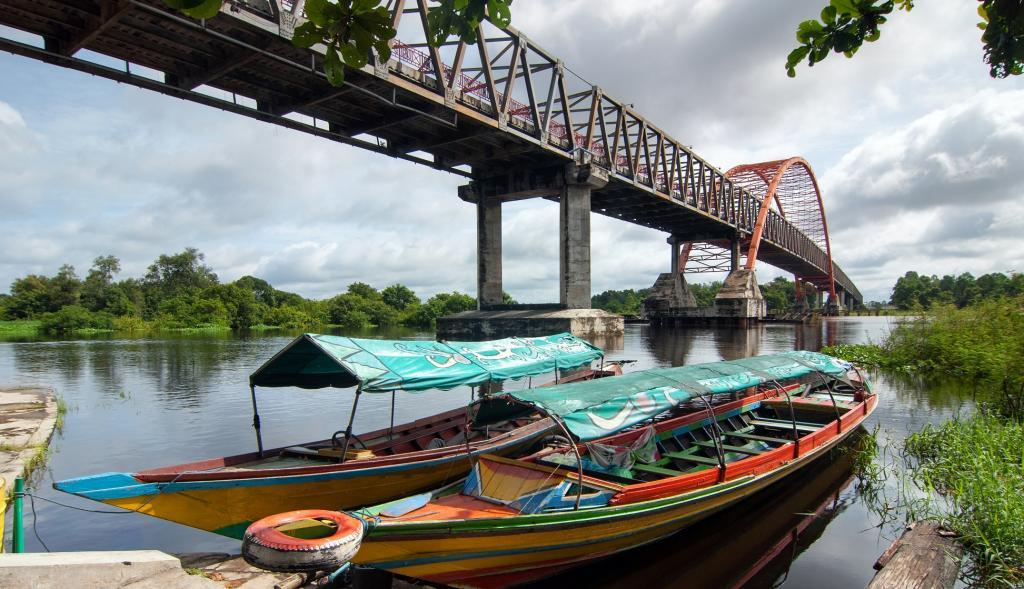 A bridge in Palangka Raya, Borneo. Credit: Getty Images