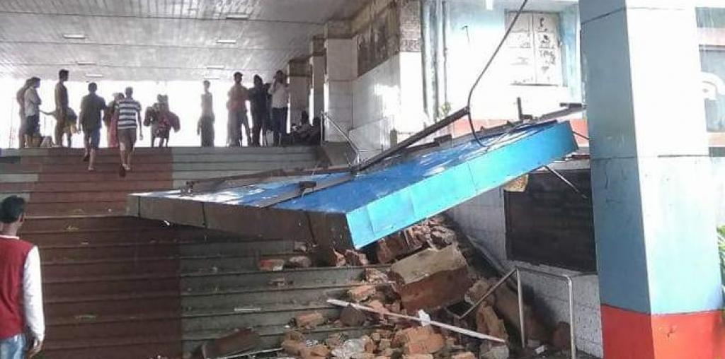 Cyclone Fani pummeled Bhubaneswar railway station.