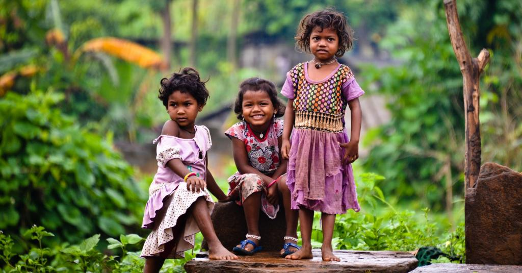 Rural children near Visakhapatnam, Andhra Pradesh. Photo: Getty Images