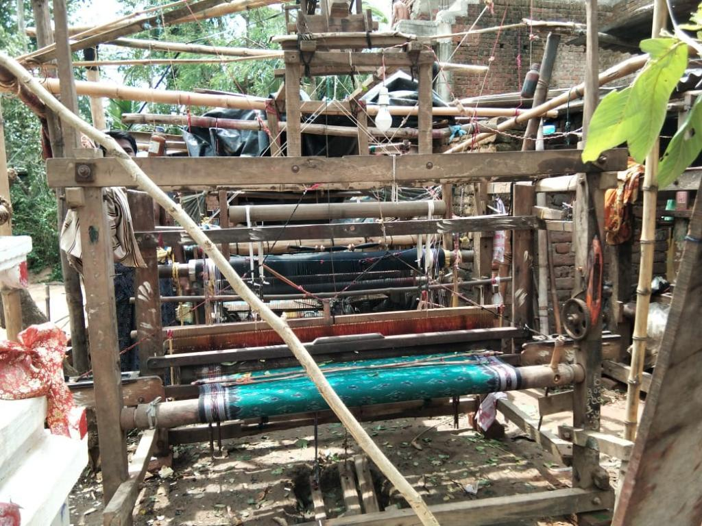 A damaged loom in Haripur village of Kendrapara district in Odisha. Photo: Ashis Senapati