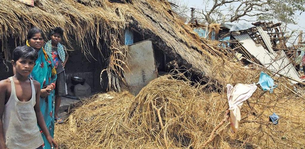Extensive damages occured to the kutcha houses in Puri, where cyclone Fani made landfall