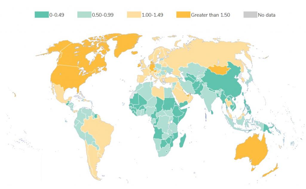 Annual municipal solid waste generated per capita (kilograms/capita/day) http://datatopics.worldbank.org/what-a-waste/