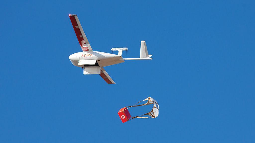 Drones deliver medicines in Africa