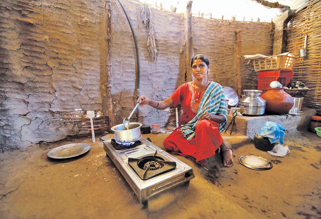 Initially reluctant to cook on toilet-linked biogas, Gitaben Chaniyabhai Bhagariya now claims that the system has made her life hassle-free
