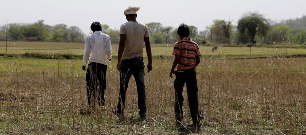 Farmers in Bundelkhand inspect a field. Photo: Vikas Choudhary/CSE