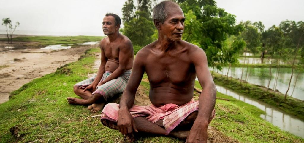 Locals at Ghoramara Island in the Sundarbans which is disappearing due to coastal erosion. Photo: Flickr
