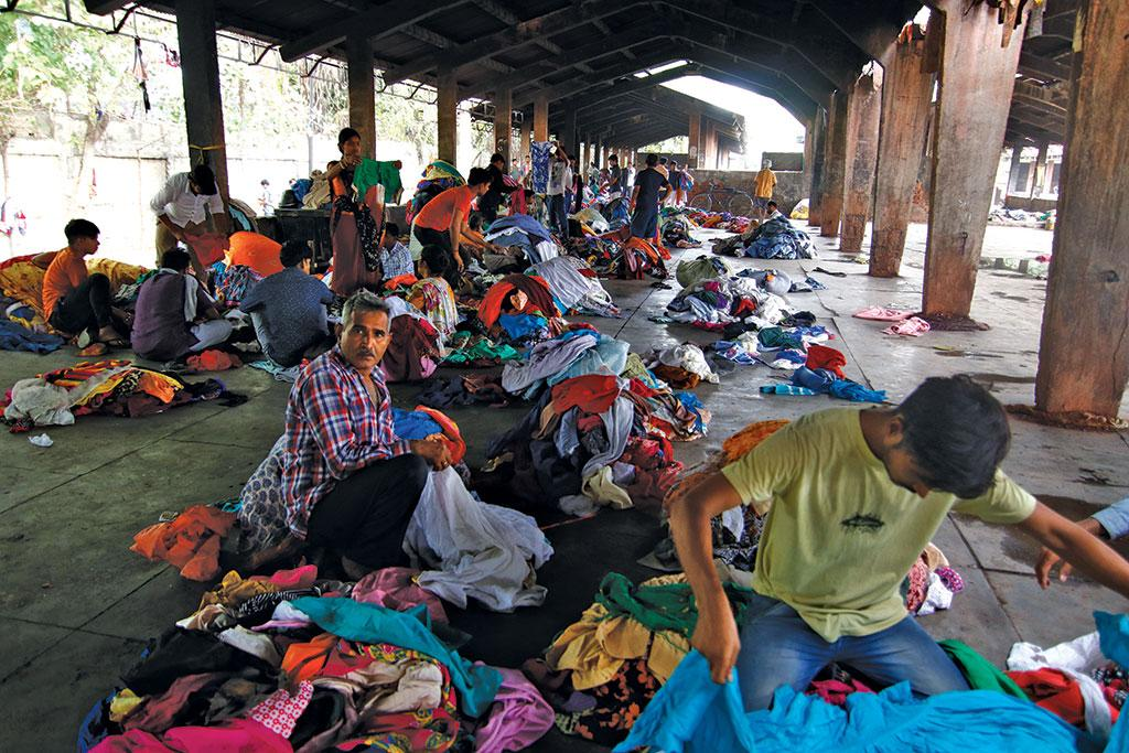 Delhi's Raghubir  Nagar houses one of Asia's biggest used garment markets, with  about 5,000 vendors engaged in the business (Photograph: Vikas Choudhary)