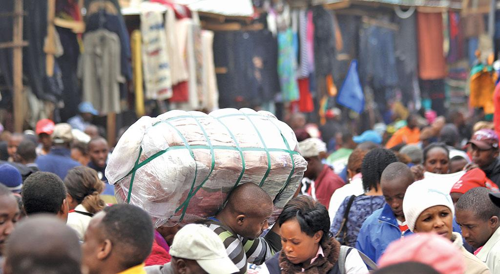 Gikomba market in Nairobi is a major second-hand clothing centre in Kenya. The industry offers employment to  about 65,000 people in the country