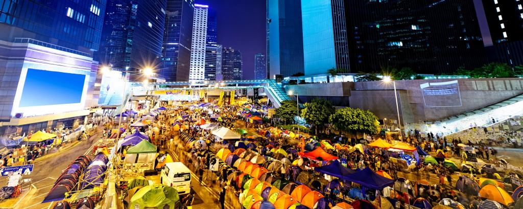 The Occupy Central Movement in Hong Kong in 2014. Photo: Getty Images