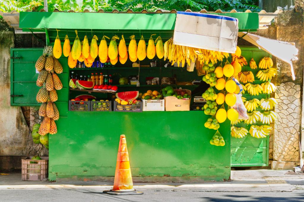 Street stall selling fruit in Salvador, Brazil. Photo: Getty Images