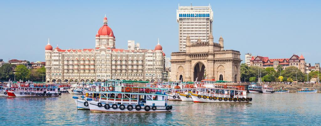 The Gateway of India on the shores of Bombay Harbour, Mumbai. Photo: Getty Images