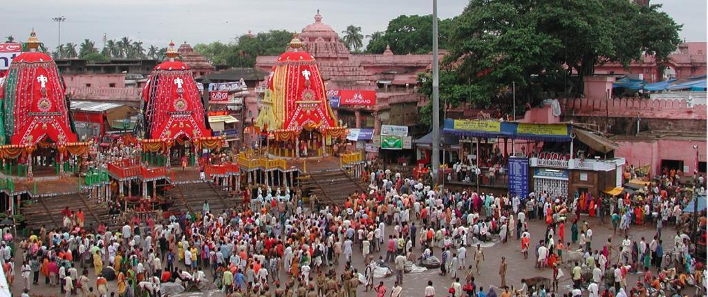 The Jagannath Rath Yatra in Puri, Odisha. Photo: Getty Images