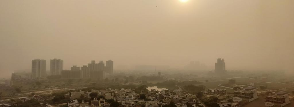 Smog over Delhi. Photo: Getty Images