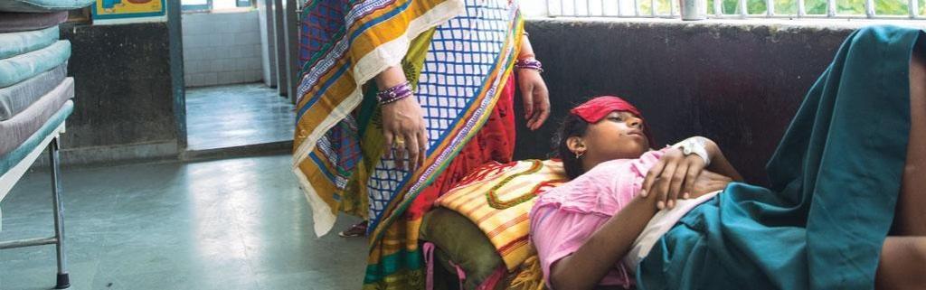 A patient of Kala Azar. Photo: Srikant Caudhary