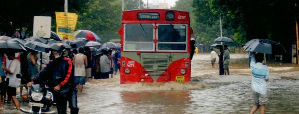File photo of a flooded Mumbai street: Wikimedia Commons